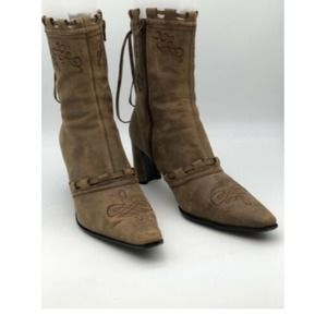 Roper Brown Leather Western Boots Women's Sz 10